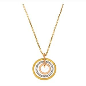 Michael Kors Concentric Circle Necklace NWT